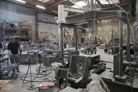 Vue générale atelier de fonderie